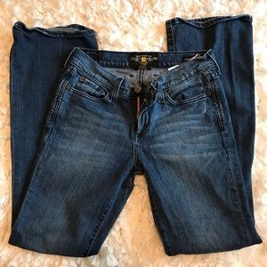 Lucky Brand Sweet N Low Dark Wash Distressed Jeans